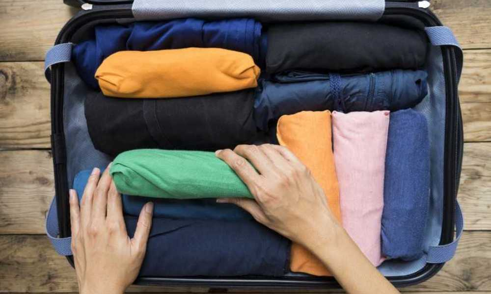 How to Roll Clothes for Packing Cubes